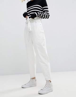 Asos Paper Bag Jean In White