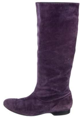 Clergerie Mid-Calf Suede Boots