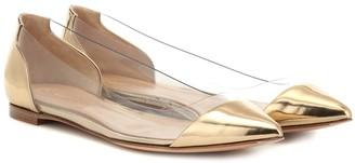 Gianvito Rossi Plexi patent leather ballet flats