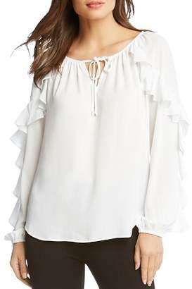 Karen Kane Ruffle-Sleeve Top - 100% Exclusive