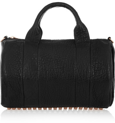 Alexander Wang - The Rocco Textured-leather Tote - Black