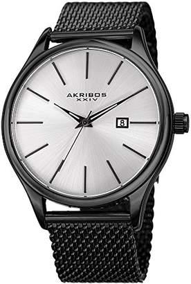 Akribos XXIV Men's Swiss Quartz Stainless Steel Casual Watch