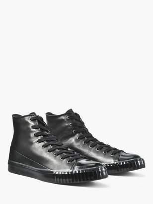 John Varvatos Leather Mid Top