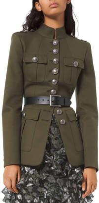 Michael Kors Twill Military Jacket