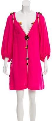 Isabel Marant Silk V-neck Mini Dress