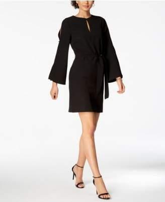 Julia Jordan Split Bell-Sleeve Keyhole Dress