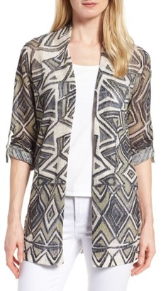 Women's Nic+Zoe Mountain Dreams Linen Blend Cardigan $158 thestylecure.com