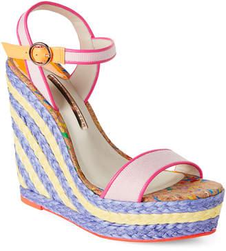 Sophia Webster Pastel Pink Lucita Wedge Espadrille Sandals