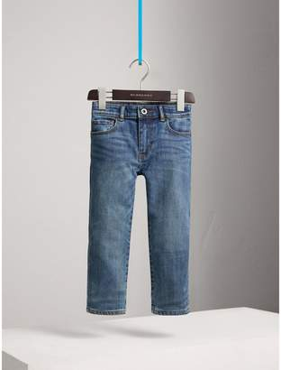 Burberry Relaxed Fit Stretch Denim Jeans , Size: 8Y, Blue