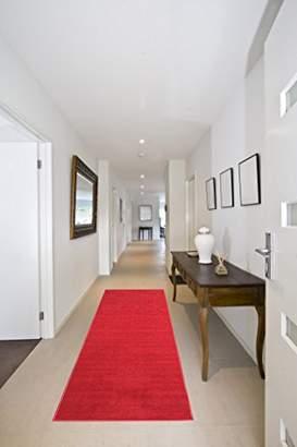 Ottomanson Ottohome Collection Solid Design Hallway Wedding Aisle Runner Rug (Non-Slip) Rubber Backing Area Rug