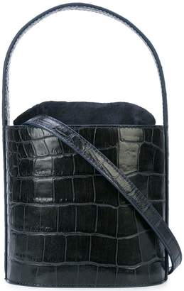 Staud crocodile embossed bucket bag