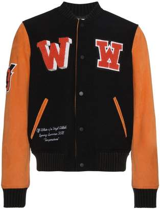 Off-White Eagle Temp varsity jacket