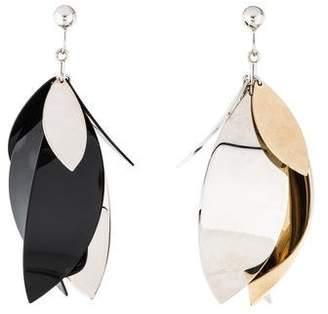Proenza Schouler Mismatched Leaf Drop Earrings