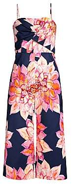 Trina Turk Women's Floral Scenery Cropped Jumpsuit - Size 0