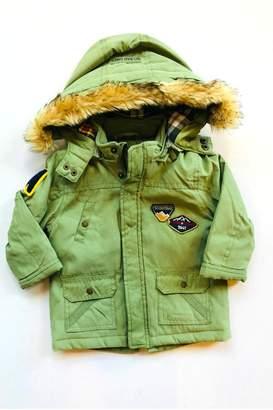 Mayoral Olive Fur Coat