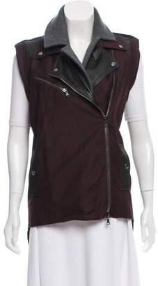Veronica Beard Notched Lapel Zippered Vest