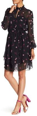 Rachel Roy Long Sleeve Chiffon Floral Dress