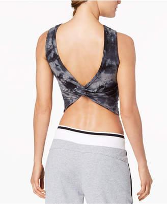Calvin Klein Tie-Dyed Twist-Back Cropped Tank Top