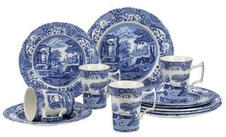 Spode Blue Italian 12 Piece Dinnerware Set, Service for 4
