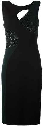 Versace side sequin-detail sheath dress