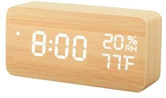 TISSA Wooden LED Alarm Clock