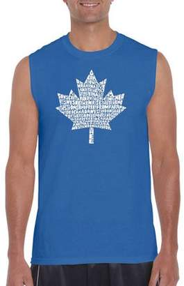 Pop Culture Los Angeles Pop Art Men's Sleeveless T-Shirt - Canadian National Anthem