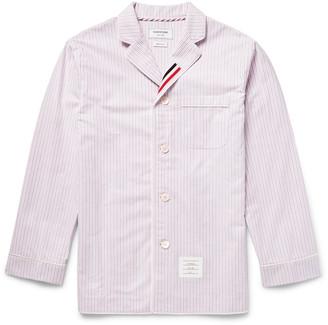 Thom Browne Striped Cotton Oxford Pyjama Shirt $600 thestylecure.com