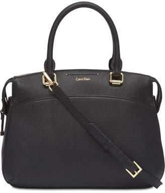 Calvin Klein Raelynn Pebble Leather Satchel