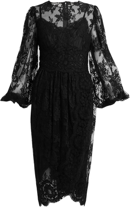 DOLCE & GABBANA Galloon cotton-blend lace dress $5,445 thestylecure.com