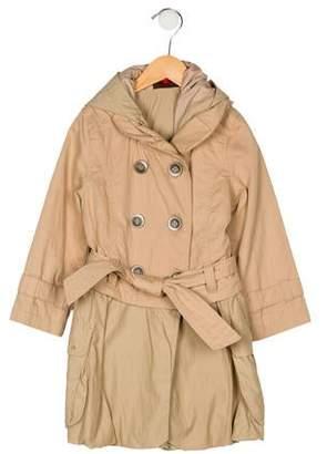 Catimini Girls' Shawl Collared Coat