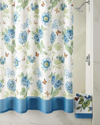 At Horchow · Lenox Blue Flower Garden Shower Curtain
