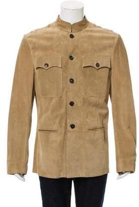 Saint Laurent Deconstructed Suede Cargo Jacket