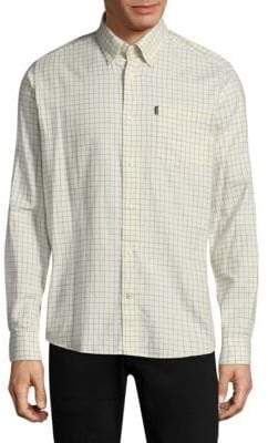 Barbour Check Cotton Casual Button-Down Shirt