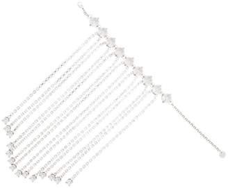 Miu Miu silver tone draped crystal drop bracelet
