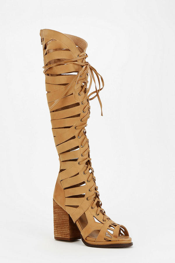 Jeffrey Campbell Lupita Caged Lace-Up Boot