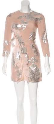 Self-Portrait Silk-Blend Brocade Dress w/ Tags