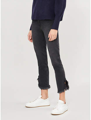 Paige Hoxton Curve frayed-hem straight high-rise jeans