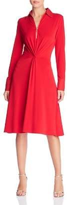 Donna Karan Twist-Front Shirt Dress