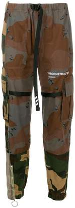 Off-White contrast camouflage print trousers