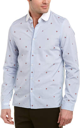Gucci Bee Fil Coupe Cambridge Woven Shirt