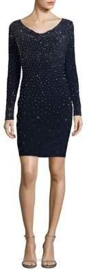 Xscape Evenings Embellished V-Neck Bodycon Dress