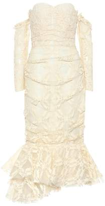 Brock Collection Okniva cotton-blend lace midi dress