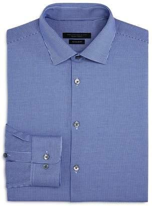 John Varvatos Striped Jersey Regular Fit Dress Shirt