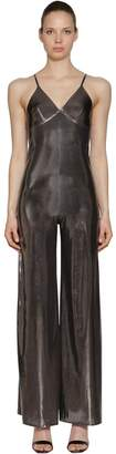 Norma Kamali Metallic Stretch Jersey Jumpsuit