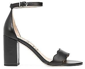 Sam Edelman Women's Odila Leather Block-Heel Sandals