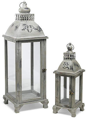 One Kings Lane Asst. of 2 Grover Lanterns - Gray/Brass