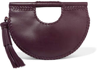 Ulla Johnson Melora Whipstitched Leather Tote - Burgundy