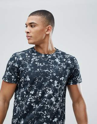 Solid T-Shirt With Floral Print