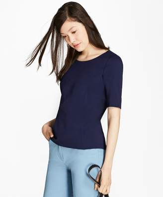 Brooks Brothers Elbow-Sleeve Ponte T-Shirt