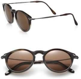 Kyme Miki Light 48mm Round Mirror Sunglasses